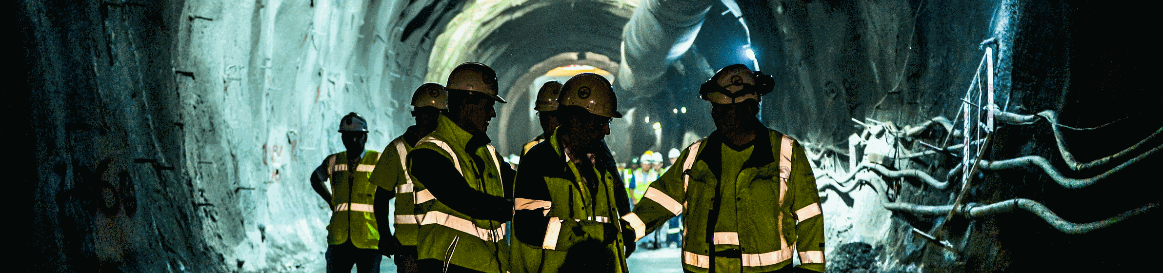 Inside tunnel at construction site
